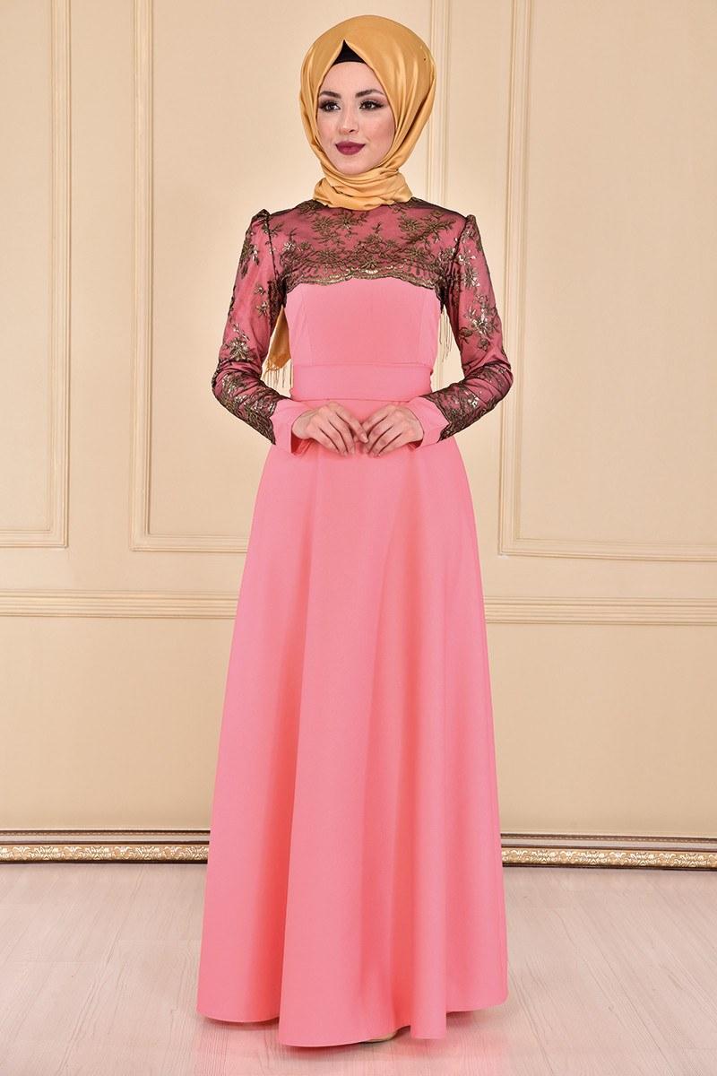 Bolero Suchen Abendkleider Kleid Lachs